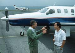 Bernard Dorance, pilote d'essais et Jean Piatek l'ingénieur navigant.