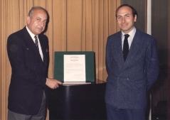 Pierre Gautier le PDG de Socata et Claude Lelaie, Directeur Technique
